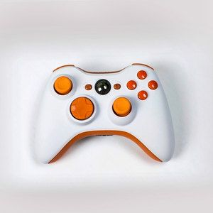 300x300 White Orange Xbox 360 Controller. Reminds Me Of Vector From