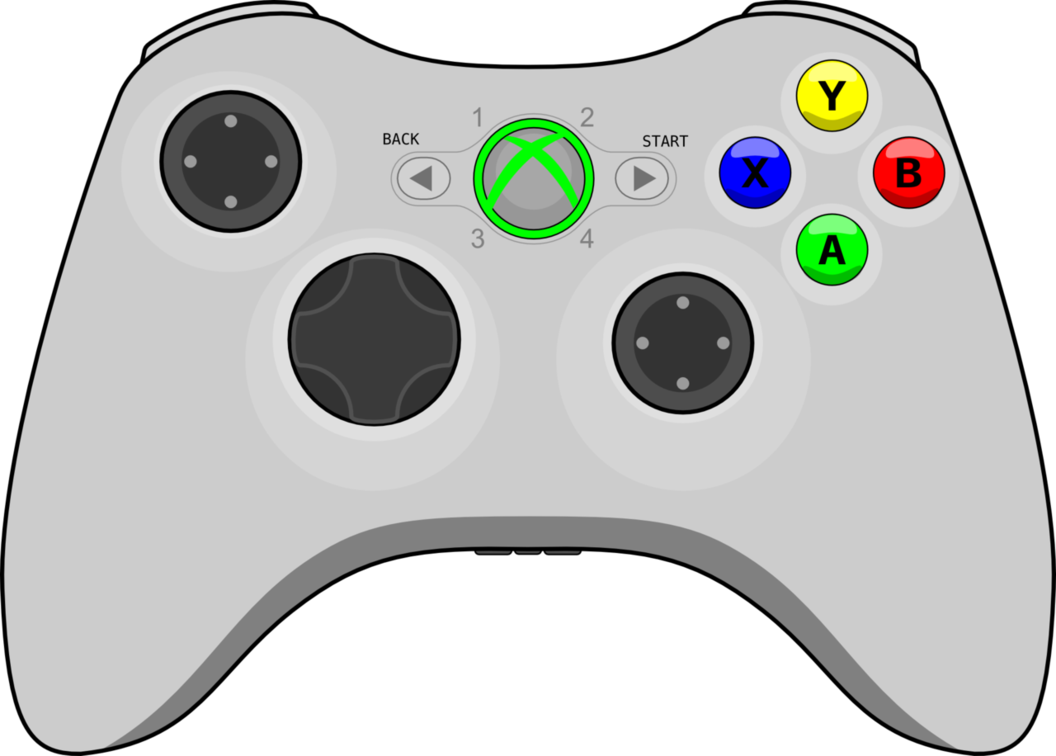 1056x756 Xbox 360 Controller By Assyrianic