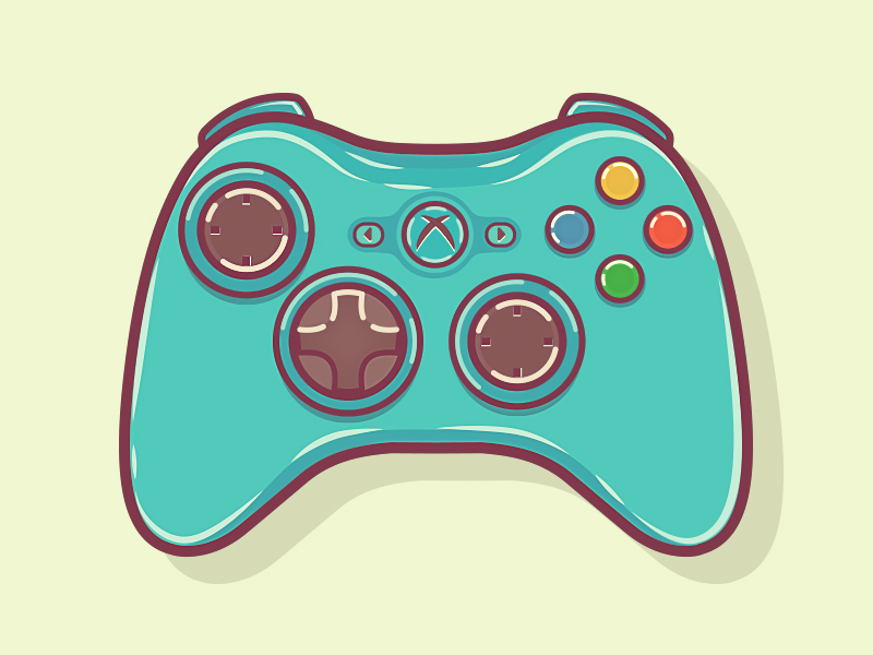 800x600 Xbox 360 Controller By Graphicsoulz