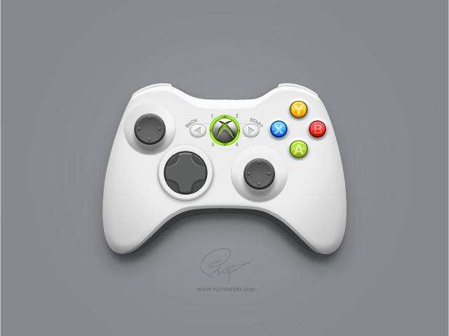 640x480 Xbox 360 Controller By Floydworx