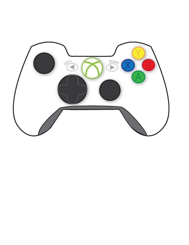 612x792 Xbox Controller Vector
