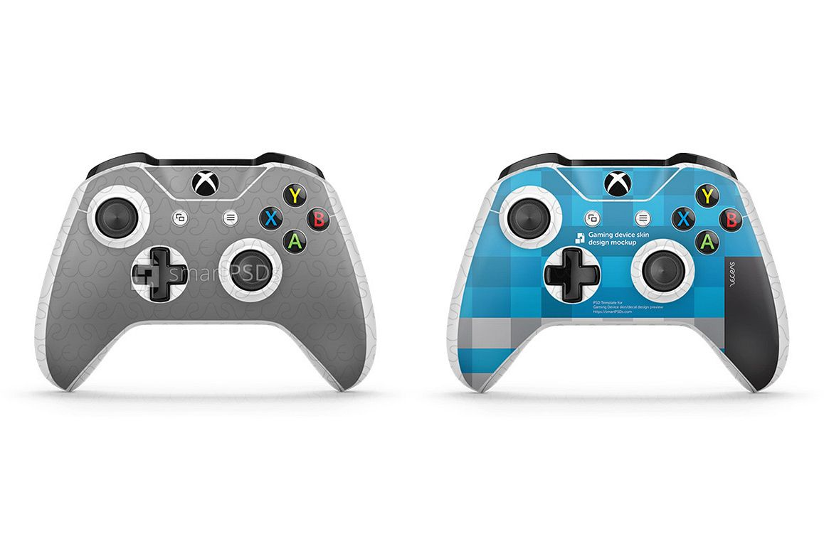 1158x772 Xbox One S Controller Skin Design Template 2 Views