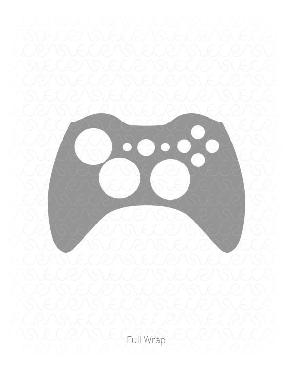 600x750 Microsoft Xbox 360 Gaming Controller Vinyl Skin Vector Cut File