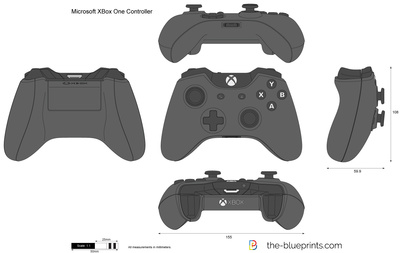 400x253 Microsoft Xbox One Controller Vector Drawing