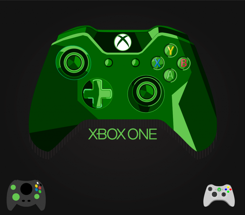 1024x898 Xbox One Controller Vector Freebie Gaming Xbox