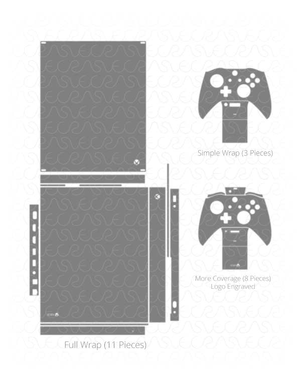 600x750 Xbox One X Console Amp Controller Vinyl Vector Cut File On Behance
