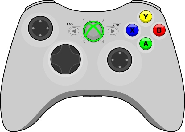 600x429 Xbox Gamepad Clip Art Free Vector In Open Office Drawing Svg