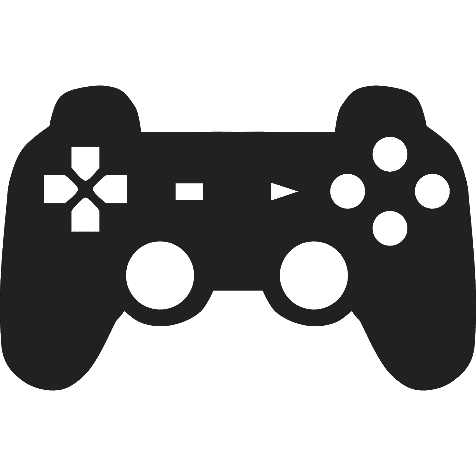 1600x1600 Black And White Controller Vector