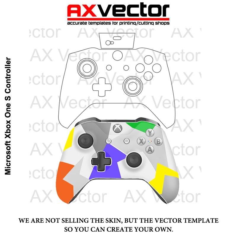 800x800 Xbox One S Controller Template, Vector Contour Cut File