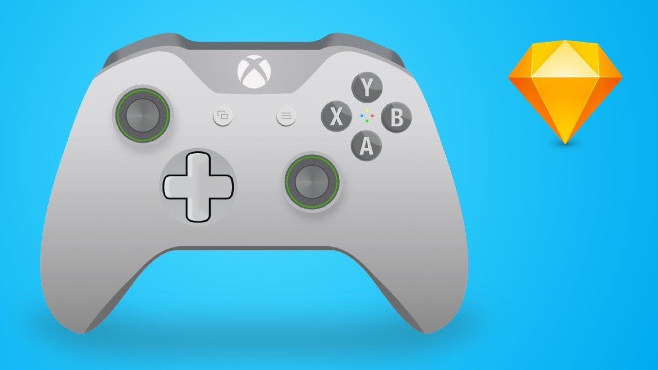 1280x720 Illustration Tutorial How To Design An Xbox One Controller Vector