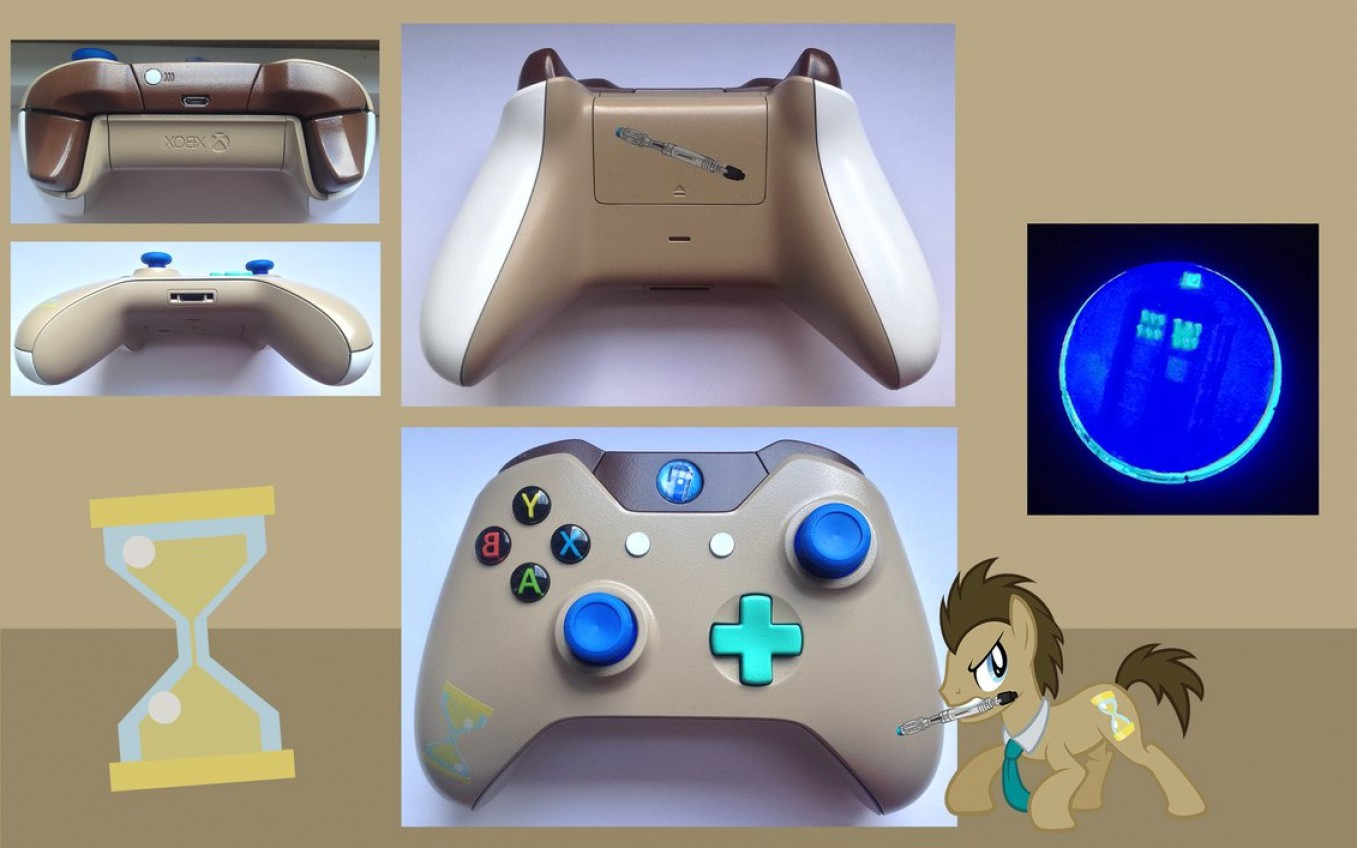 1357x848 Dr Whooves Custom Xbox One Controller Lazttweet