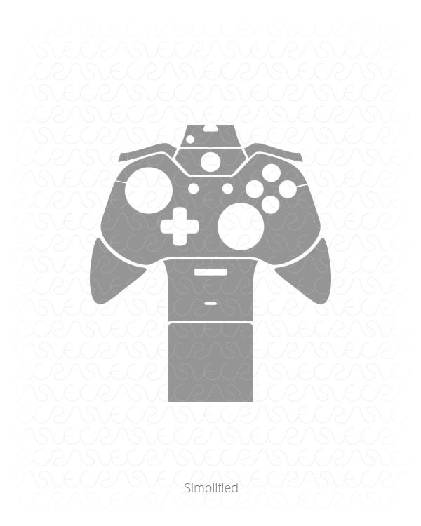 600x750 Microsoft Xbox One Gaming Controller Vinyl Skin Vector Cut File