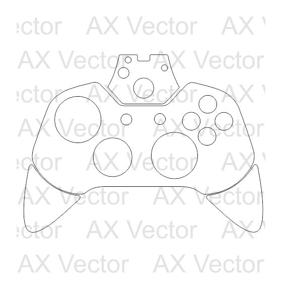 570x570 Xbox One Controller Vector Template Home Decor
