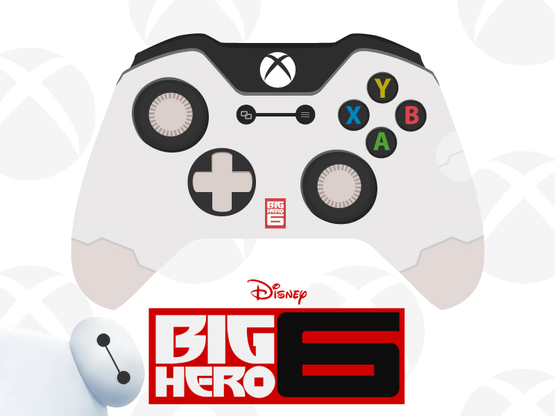 800x600 Big Hero 6 Xbox One Controller By Cameron Wheeler