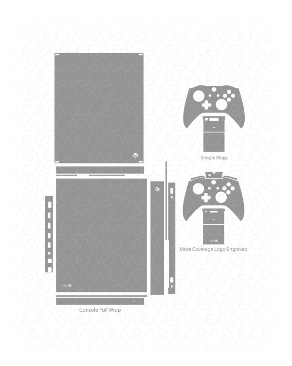 600x750 Microsoft Xbox One X Gaming Console Amp Controller Vinyl Skin Cut