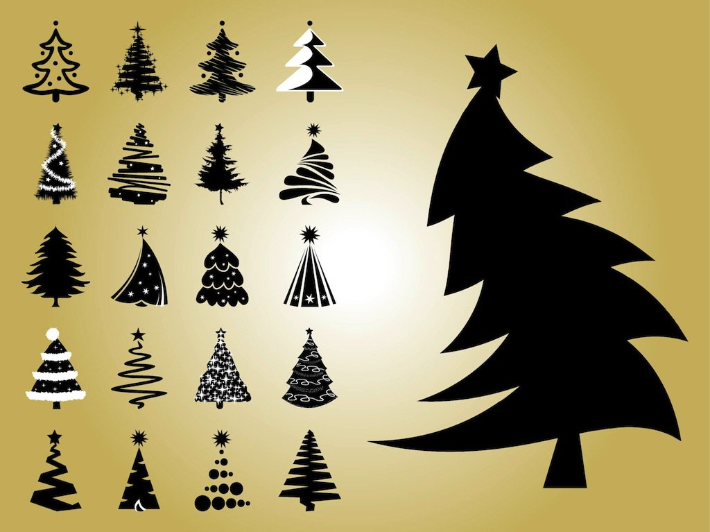 1024x767 Christmas Tree Vectors Vector Art Amp Graphics