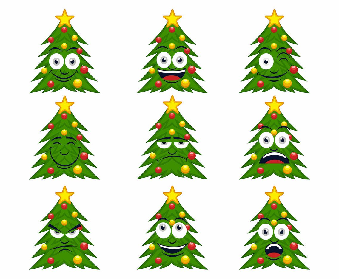 1136x936 Free Cartoon Christmas Tree Vector Vector Art Amp Graphics