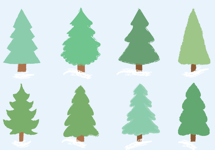 700x490 Free Christmas Tree Vector