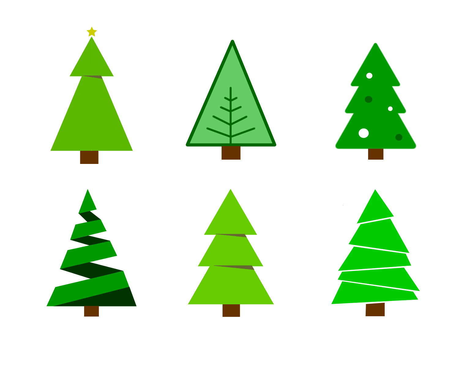 1500x1200 Free Colour Chirstmas Tree Vector Graphics