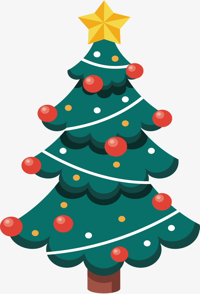 650x955 Cartoon Christmas Tree, Cartoon Vector, Christmas Vector, Tree