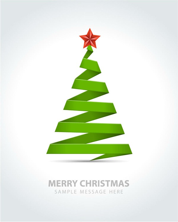 600x750 Simple Ribbon Christmas Tree Vector Graphics My Free Photoshop World