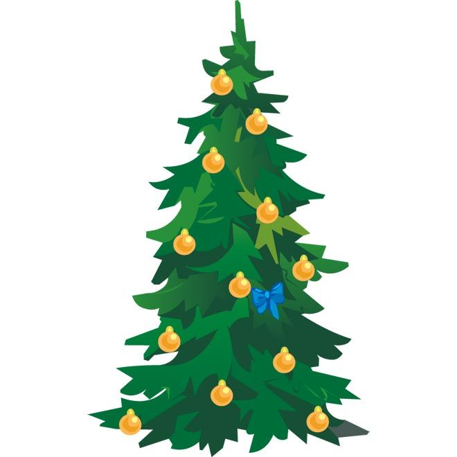 660x660 Clip Art Christmas Tree Vector Illustration Marry Chrismis
