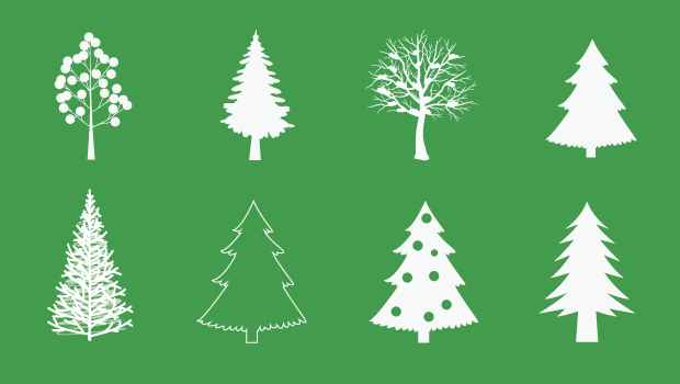 620x350 Christmas Tree Vector