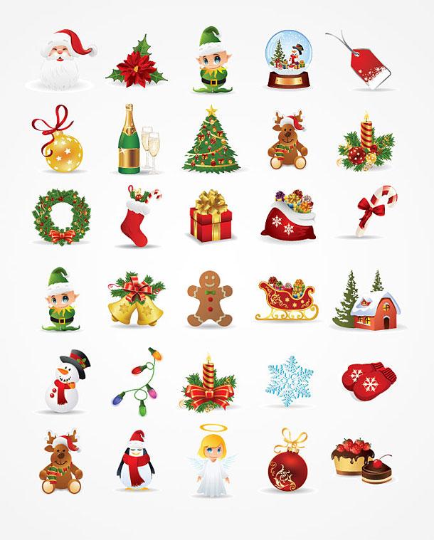 610x759 Christmas Freebies 30 High Quality Xmas Vector Graphics Will