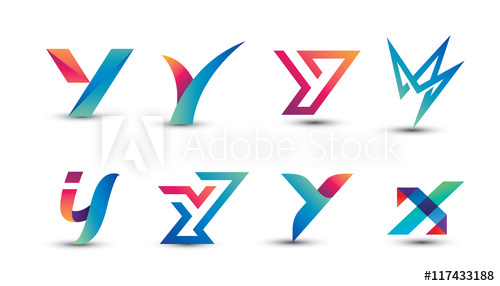 500x286 Abstract Colorful Y Logo