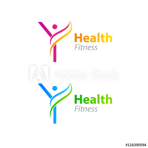 500x500 Abstract Letter Y Logo Design Template With Health Fitness Logo