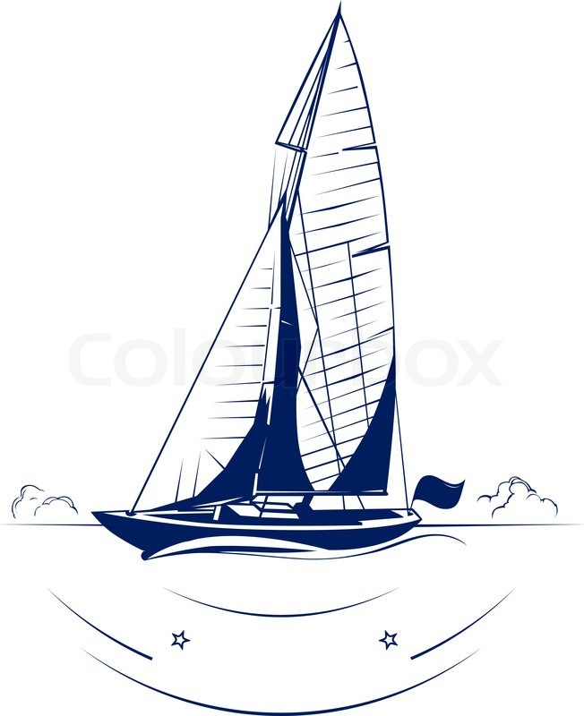652x800 Speed Yacht Vector Insignia Stock Vector Colourbox