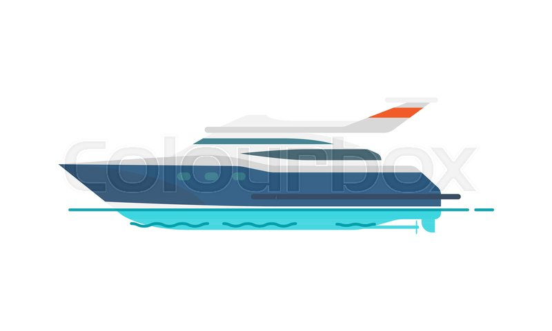 800x480 Cute Pattern Of Speed Yacht Vector Illustration Isolated On White