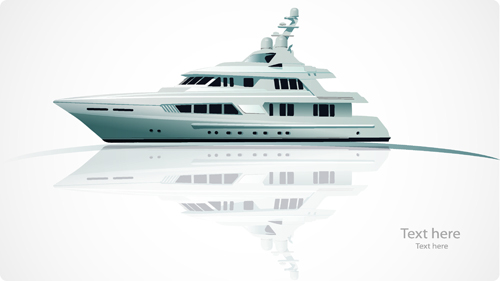 500x281 Realistic Yacht Model Design 01 Vector Free Download