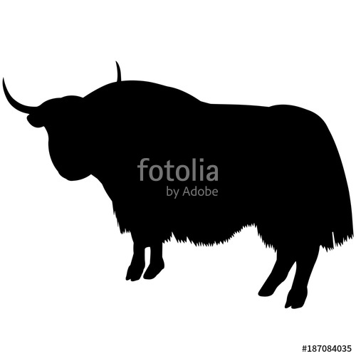500x500 Yak Silhouette Vector Graphics Stock Image And Royalty Free