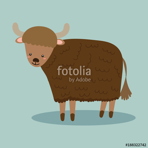 500x500 Cute Yak Vector Stock Image And Royalty Free Vector Files On