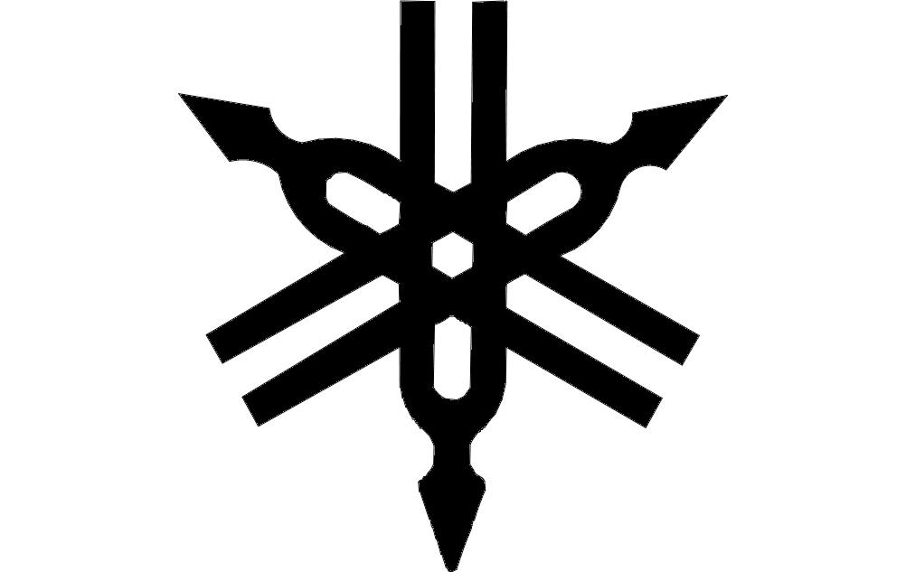 1002x633 Yamaha Logo Vector Dxf File Free Download