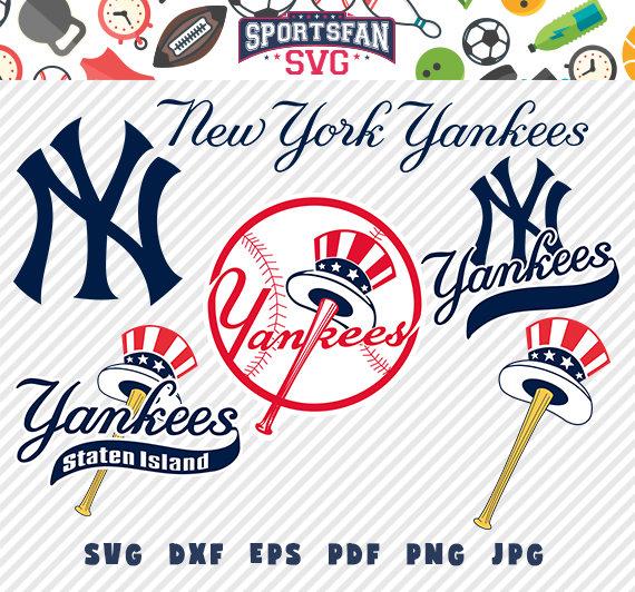 570x532 New York Yankees Svg Pack Baseball Team, Baseball League