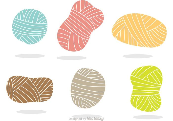 700x490 Colorful Yarn Vector Icons