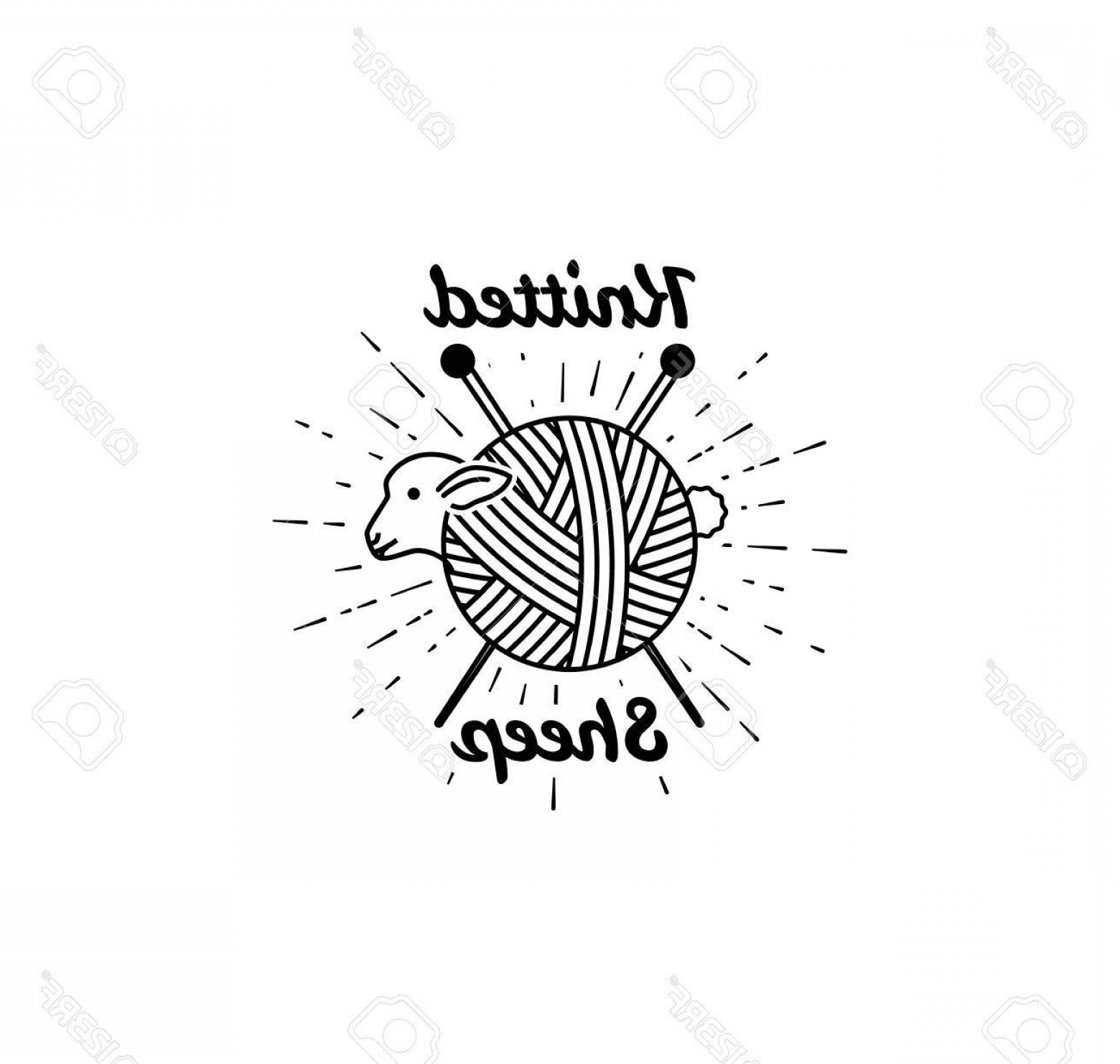 1560x1482 Photostock Vector Sheep Logo Vector Illustration Logo For Knitting