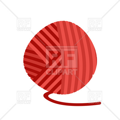 400x400 Red Ball Of Yarn Vector Image Vector Artwork Of Icons And