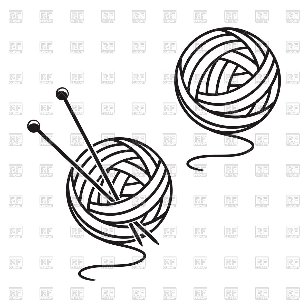 1200x1200 Set Of Balls Of A Yarn Vector Image Vector Artwork Of Objects