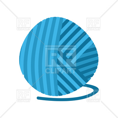 400x400 Blue Ball Of Yarn Vector Image Vector Artwork Of Icons And