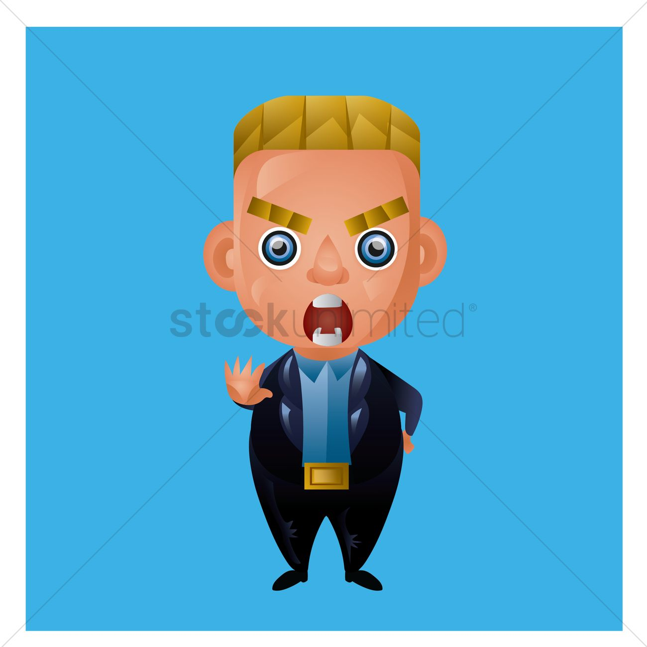 1300x1300 Businessman Yelling Vector Image