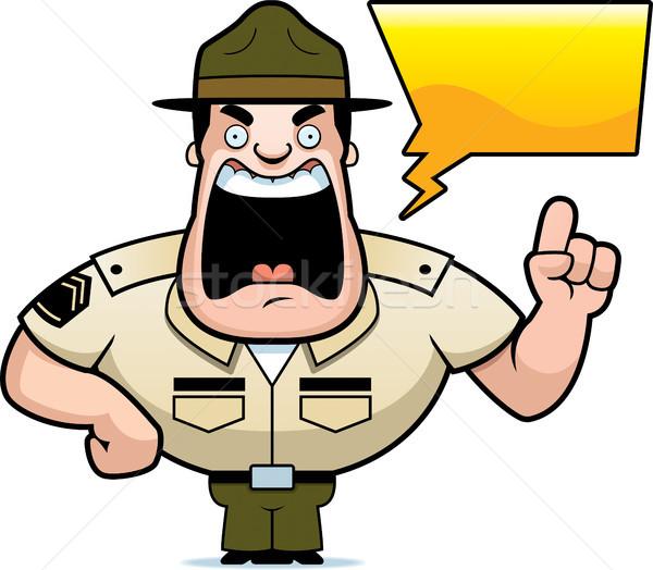 600x524 Cartoon Drill Sergeant Yelling Vector Illustration Cory Thoman