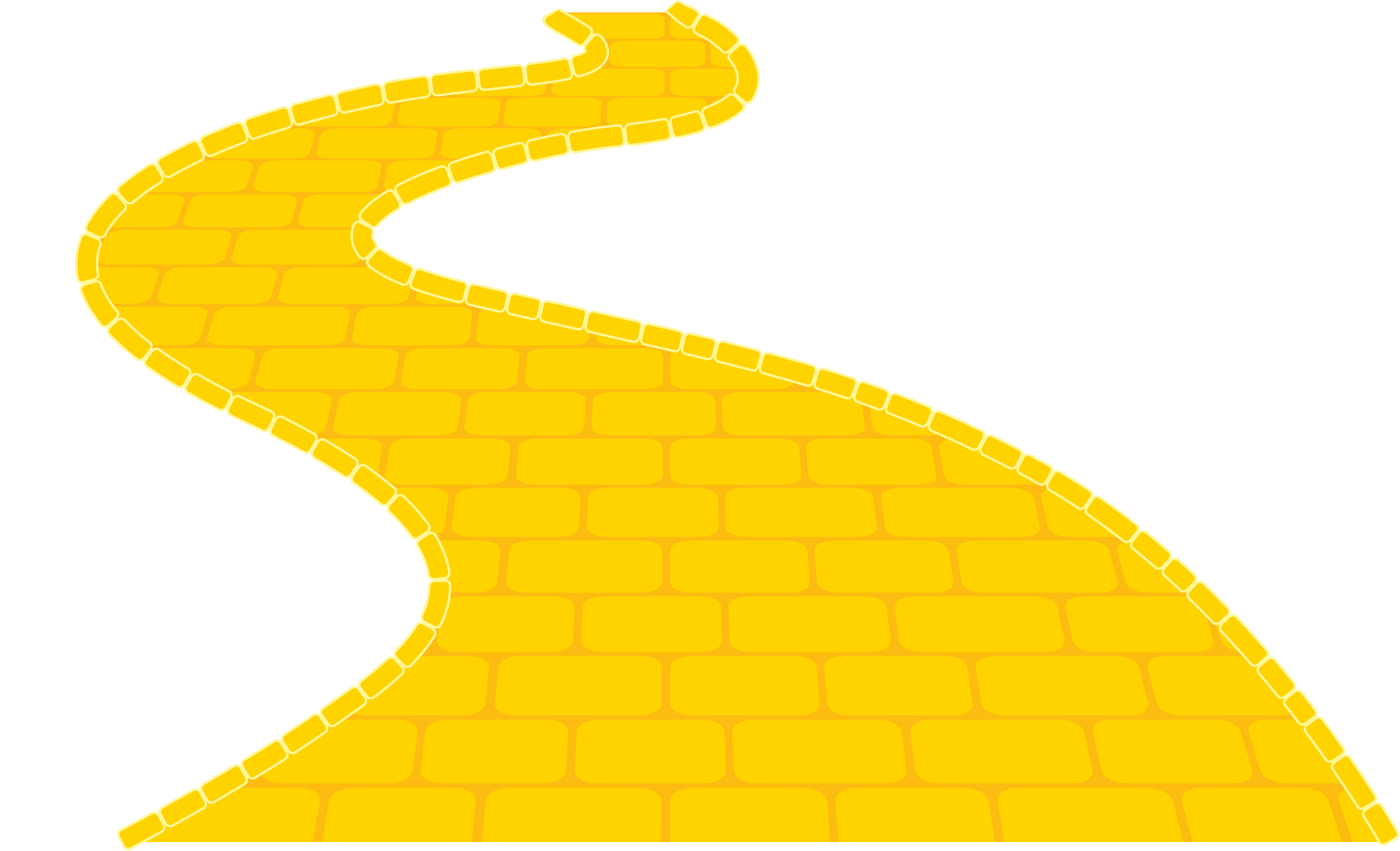 3497x2127 Yellow Brick Road Clipart Image Group