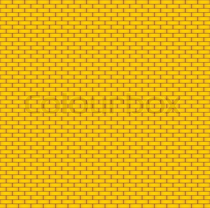 800x793 Yellow Brick Wall Seamless Background Stock Vector Colourbox