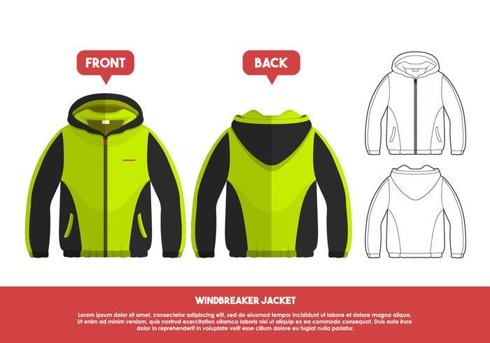 700x490 Windbreaker Jacket Vector Illustration