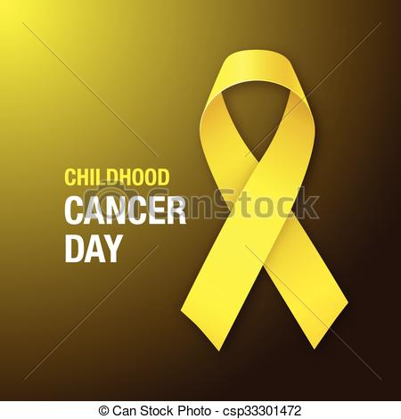 450x470 Childhood Cancer Day. Awareness Yellow Ribbon. Childhood Cancer