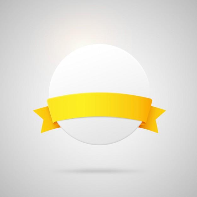 626x626 Circular Badge With Ribbon Vector Free Download