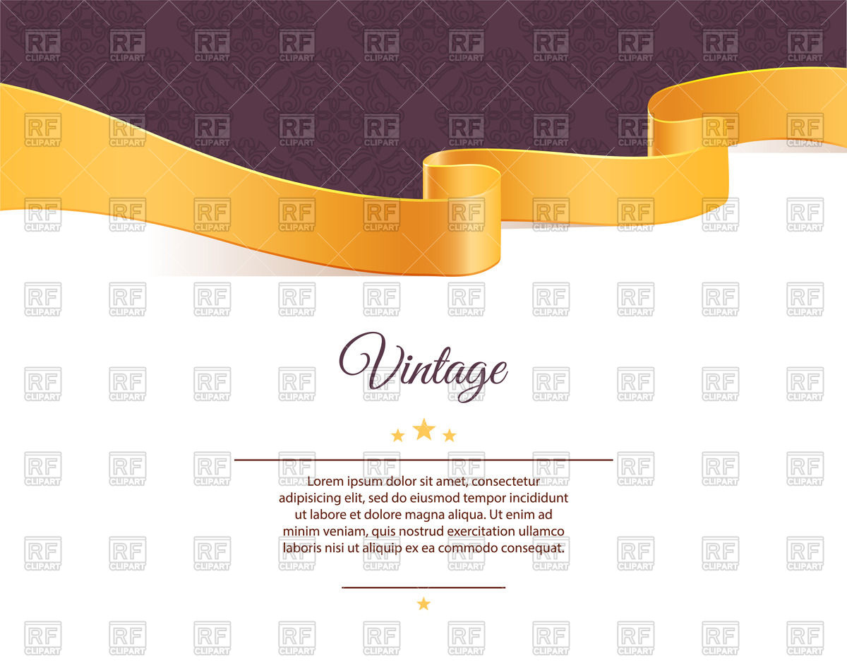 1200x939 Frame With Wavy Yellow Ribbon On Purple Background Vector Image